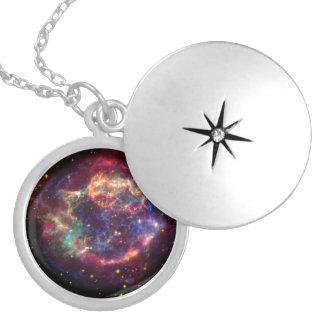 Constelação do Cassiopeia Colar Medalhão