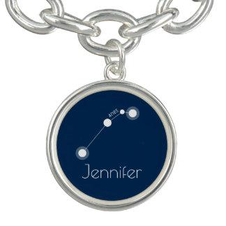 Constelação personalizada do zodíaco do Aries Braceletes Com Charm