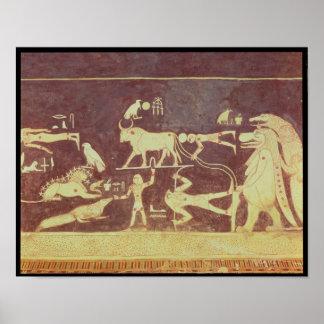 Constelações, da câmara funerária poster