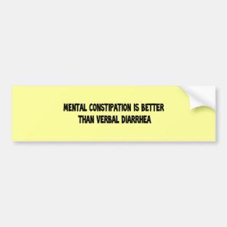 constipação mental adesivo para carro