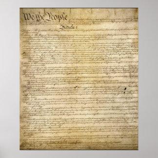 Constituição de Estados Unidos do vintage Posteres