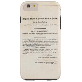 Constituição dos E.U. da alteração do ORIGINAL 19a Capas iPhone 6 Plus Tough