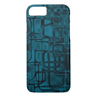 Construção azul da matriz capa iPhone 7