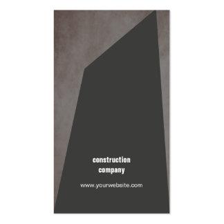 Construção cinzenta escura da pedra moderna da cartão de visita