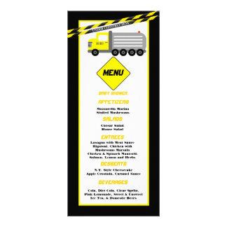 Construção de 25 cartões do menu panfletos informativos