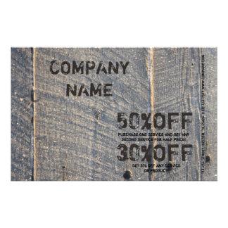 construção de madeira da carpintaria da textura do panfleto personalizado