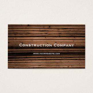 Construção de madeira da textura cartão de visitas