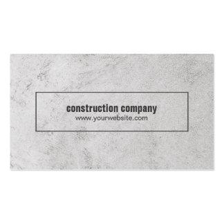Construção de pedra cinzenta elegante moderna cartão de visita