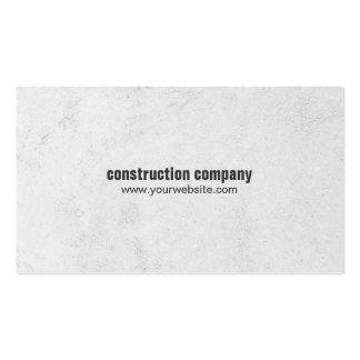 Construção de pedra cinzenta elegante simples cartão de visita