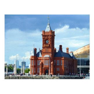 Construção de Pierhead, Cardiff, Wales, Reino Cartão Postal