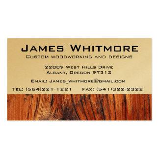 Construção de trabalho do armário da madeira cartão de visita