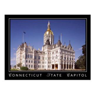 Construção do Capitólio do estado de Connecticut Cartão Postal