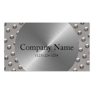 Construção do monograma do aço & dos rebites cartão de visita