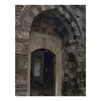 Construção e portas islâmicas panfletos personalizados