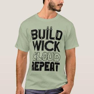 Construção, feltro de lubrificação, nuvem, t-shirt