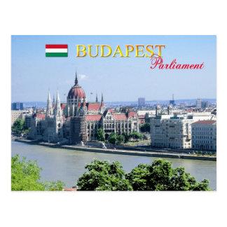 Construção húngara do parlamento, Budapest Cartao Postal