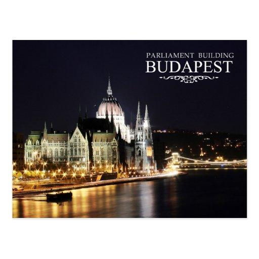 Construção húngara do parlamento, Budapest Cartão Postal