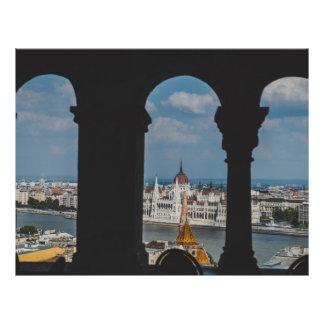 Construção húngara do parlamento, Budapest Panfletos Coloridos