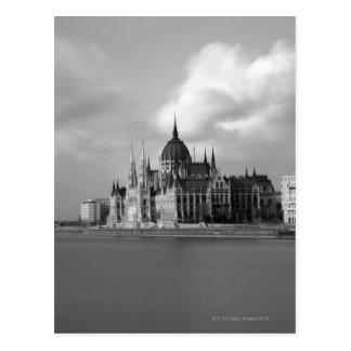 Construção húngara do parlamento cartoes postais