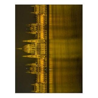 Construção húngara do parlamento de Budapest Cartão Postal