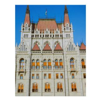Construção húngara do parlamento panfleto personalizado