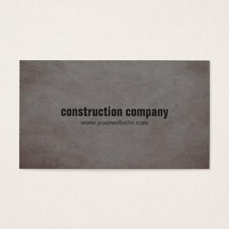 Construção moderna da obscuridade da pedra da cartão de visitas