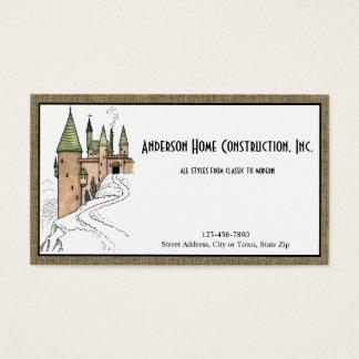 Construção ou arquitetura Home com castelo Cartão De Visitas