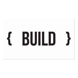 Construção - suportada - preto e branco cartão de visita