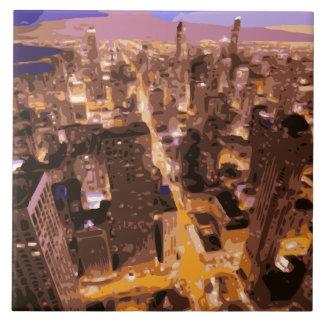 Construções altas e gloriosas de Apple grande Azulejos De Cerâmica