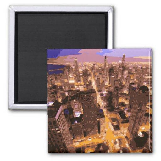Construções altas e gloriosas de Apple grande Imas De Geladeira