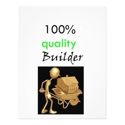 construtor 100% da qualidade modelo de panfleto