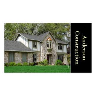 Construtor de casas ou construção cartão de visita