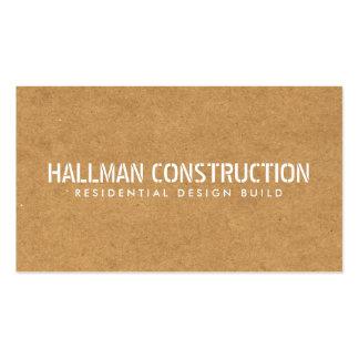 Construtor Stenciled da construção do conselho de Cartão De Visita