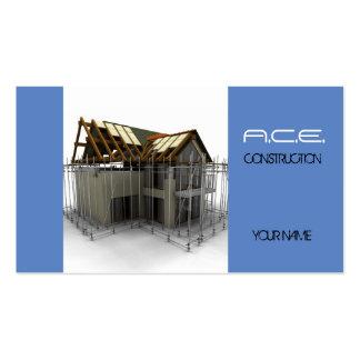 Construtores/cartão de indústria da construção modelos cartao de visita