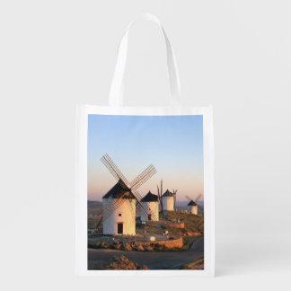 Consuegra, La Mancha, espanha, moinhos de vento Sacolas Reusáveis