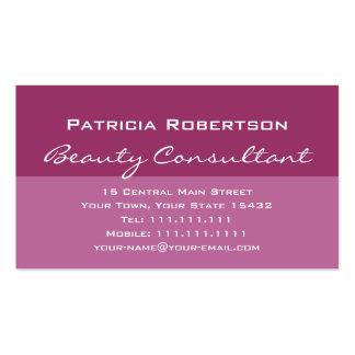 Consultante de beleza elegante luxuoso do rosa cartão de visita