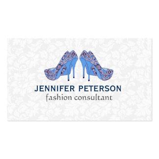 Consultante de forma elegante dos calçados do cartão de visita