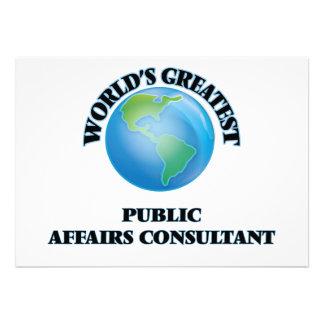 Consultante dos assuntos oficiais do mundo o convites personalizados