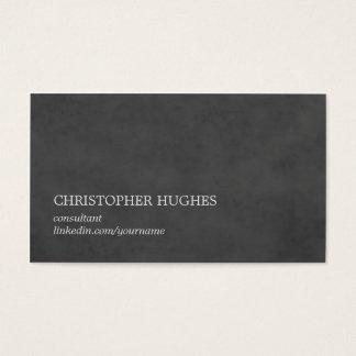 Consultante elegante simples do cinza da textura cartão de visitas