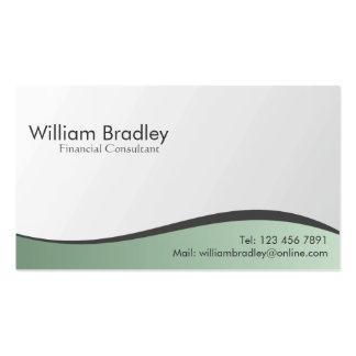 Consultante financeiro - cartões de visitas