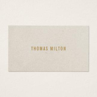 Consultante minimalista do bege da textura cartão de visitas