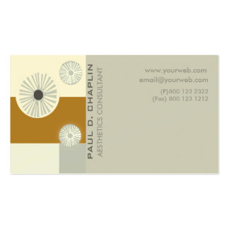 Consultante mínimo moderno adiantado da estética cartão de visita