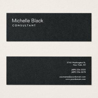 Consultante moderno preto superior minimalista cartão de visitas mini
