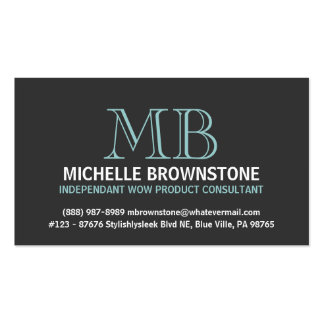 Consultante ou representante à moda e lustroso cartão de visita