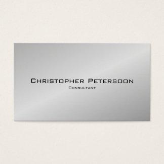 Consultante preto de prata clássico elegante cartão de visitas