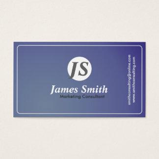 Consultor de marketing - cartão de visita