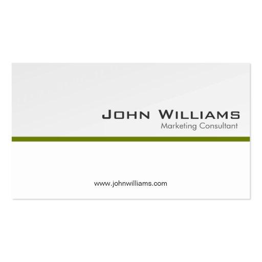 Consultor de marketing - cartões de visitas