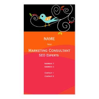 Consultor de marketing do cartão de visita SEO