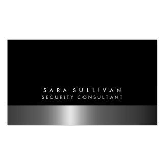 Consultor de segurança DarkChrome corajoso Cartão De Visita