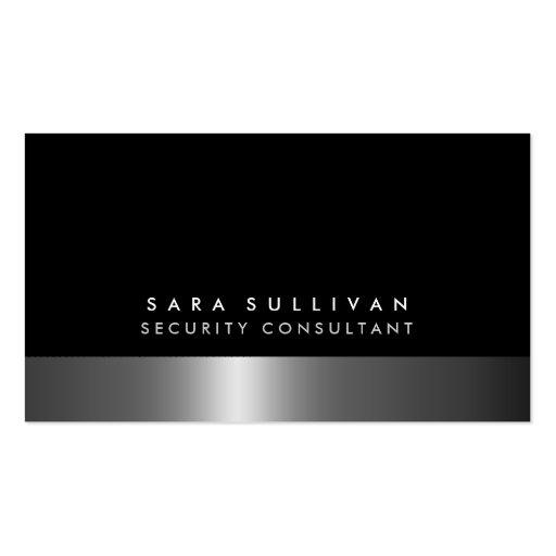 Consultor de segurança DarkChrome corajoso Cartoes De Visitas